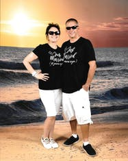 Embarkation day 2019 celebrating our 10th anniversary on our annual cruise