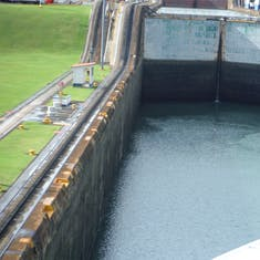 Panama Canal Transit - Moving into the lock