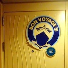 Decor on cabin door 9682                     abin door