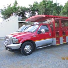 Open air tour bus in St. Thomas