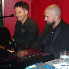 Popular Connor & Michael of the HAL Band perform in the Piano Bar - Standing room only crowd
