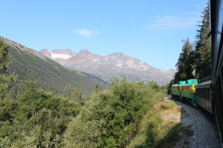 White Pass and Yukon Railway ride - Coral Princess