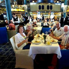 Dining with friends in the MDR