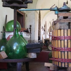 Olive oil presses from old
