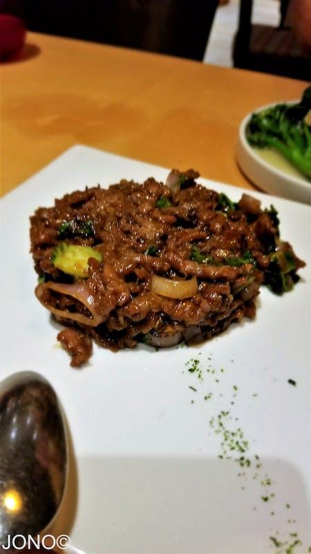 Mongolian Beef, iirc. - Carnival Sunshine