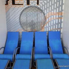 Port Canaveral, Florida - Chaise chairs
