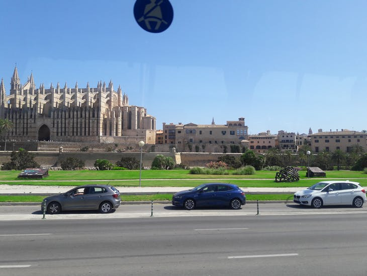 Marseille (Provence), France - Driving by cathedral