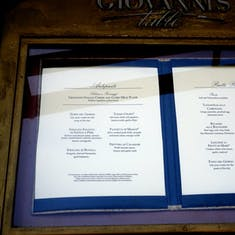 Port Canaveral, Florida - Giovanni's Table Menu