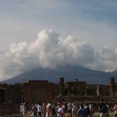 Vesuvius ... not erupting... just clouds!