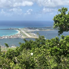 Airport view from zipline