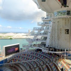 Port Canaveral, Florida - Rock Climbing Wall & Theater Seating