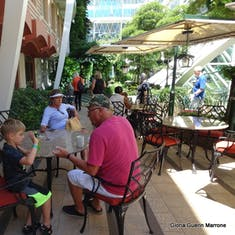 "Port Canaveral, Florida - Giovanni's Table dining ""al fresco."""