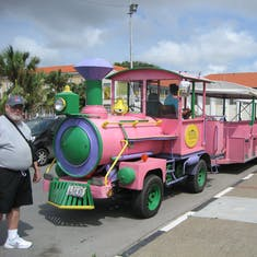 Our tour pink train