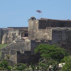 San Juan, Puerto Rico - TheSan Cristobal  Fort as seen from Old San Juan