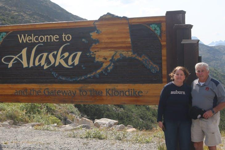 Alaska Welcome Sign - Coral Princess