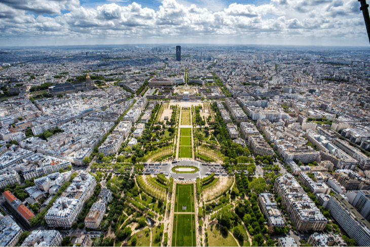 Le Havre (Paris), France - view from the top of the Eiffel Tower