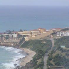 coastline leaving port