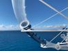 Tube slide overhang off ship