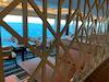 Divider between tables and main walkway in Garden Cafe