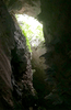 above us in the cave the Opening sun view