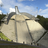 Olympic Ski Jump Doesn't look the same without snow