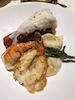 Main dining room, formal night. Lobster and shrimp.