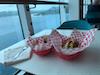 Yummy Salty Dog cheeseburger & endless fries