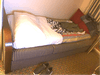Sofa to twin bed at turndown