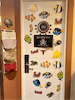 Decorated door with fish extender pockets