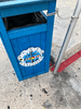 Punta Langosta trash can on the pier