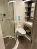 Bathroom in a balcony stateroom on Ovation of the Seas