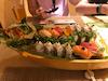 Sushi boat for 2 at Bonsai sushi