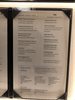 Main dining room menu