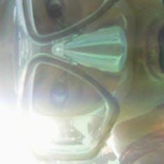 Me snorkeling in Mahogany Beach Roatan