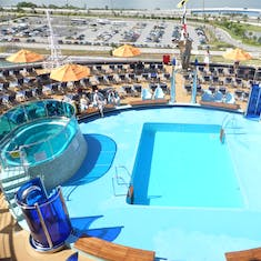 Pool with Port Canaveral in background