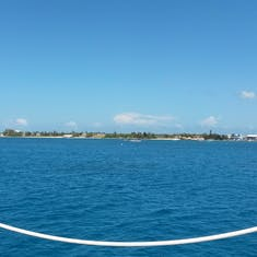 Approaching Grand Cayman aboard our tender boat from Ruby Princess
