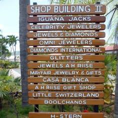 Sign Post Shopping Village St Thomas