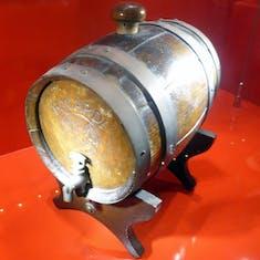 Barrel of Rum on Display