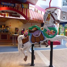 One of several carousel horses on display - Boardwalk