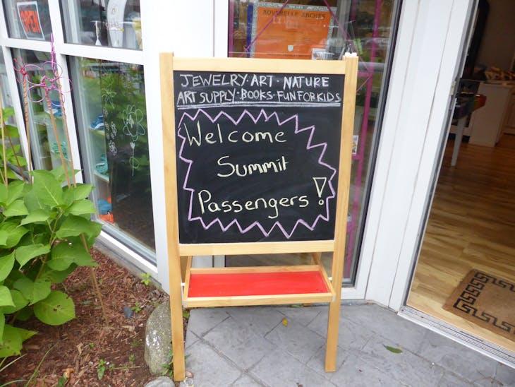 Sign Welcoming Summit Passengers - Celebrity Summit
