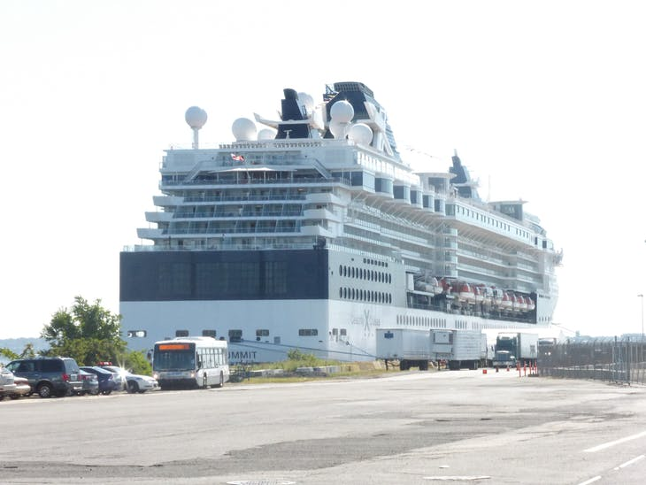 Our ship in Bayonne NJ - Celebrity Summit