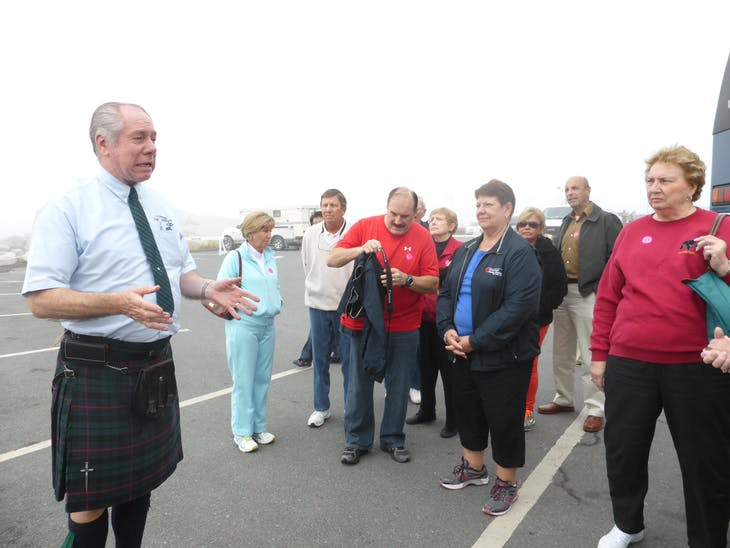 Our Guide at Peggy's Cove - Celebrity Summit