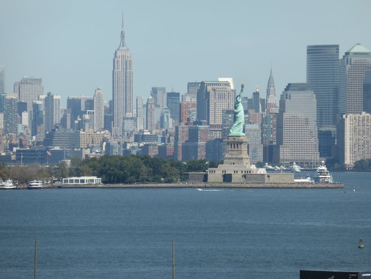 NY Skyline taken from ship with Statue Of Liberty - Celebrity Summit