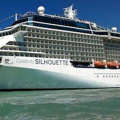 Celebrity Silhouette docked in Venice