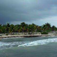 Shlore view from pier Costa Maya