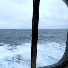 View of the ocean from our stateroom