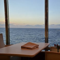 MDR table by large picture window - Deck 4 & 5