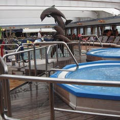 Pool and hot tubs on Statendam