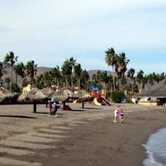 On the beach in Loreto
