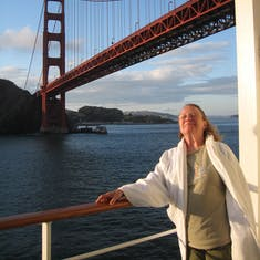 """San Francisco, California - Just passed under the Golden Gate. On our way to the """"Last Frontier"""" Alaska. Two"""